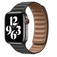 หนัง Link สำหรับสายคาด Apple Watch 44Mm 40Mm 38Mm 42Mm Applewatch 1:1 Original ลูปแม่เหล็กสร้อยข้อมือ IWatch Series 6 5 4SE