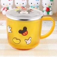 ❤正韓國現貨❤ 韓國Lilfant~ 迪士尼 米奇 防燙防滑 有蓋304不鏽鋼杯/兒童水杯