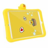 iPad Air1/2/9.7/10.5/Pro/mini123 兒童專用 帶支架 Line莎莉 矽膠iPad 防摔保護殼