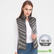 bossini女裝-90/10炫彩極輕羽絨背心02鐵灰色