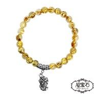 A1寶石  開運貔貅 頂級鈦晶手鍊 招財旺事業貴人運 含開光
