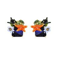 Les Nereides 動物花園系列 海洋花園藍寶石耳環 耳夾式