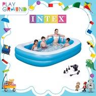 intex สระว่ายน้ำเป่าลม สระ2เมตร สระเป่าลม สระว่ายน้ำเด็ก ของแท้ ไวนิลอย่างหนา