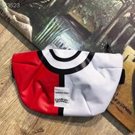 Adidas neo x Pokémon  寶可夢聯名皮卡丘精靈球腰包挎包
