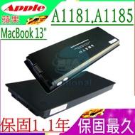 蘋果電池(鋁/黑色)-A1185,A1181,MacBook 13 2006~2009 Version.MA,MB系列