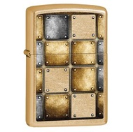 ZIPPO Metal Design Gold Dust Lighter 金屬格子趣打火機  -#ZIPPO 28539