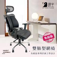 【請坐】免組裝MIT 雙肺型工學功能網椅/辦公椅/電腦椅/電競椅 M960-SD(雙肺型 電競椅 辦公椅 電腦椅)