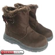 【兒童 牛角扣中筒雪靴 咖啡】 SN205/中筒靴/雪靴/雪鞋/冰爪