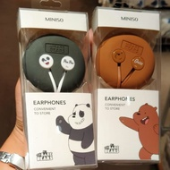 Miniso Earphone We Bare Bears