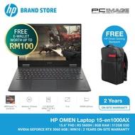 """HP Omen 15-EN1000AX 15.6"""" Gaming Laptop/Notebook (AMD Ryzen 5, 8GB, 512GB, RTX 3060, W10) - Black"""