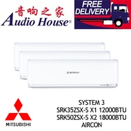 MITSUBISHI HEAVY INDUSTRIES SYSTEM 3 SRK35ZSX-S X1 12000BTU+ SRK50ZSX-S X2 18000BTU AIRCON