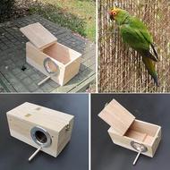 ไม้นกเพาะเลี้ยงกล่องเพาะพันธุ์กล่องรังนกสำหรับนกแก้ว Parakeets Budgies ค็อกเทล Finch Lovebird Birdhouse ชามอาหารนก