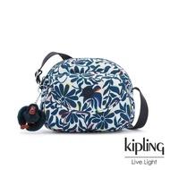 【KIPLING】舞動炫彩點綴花卉翻蓋側背小包-STELMA