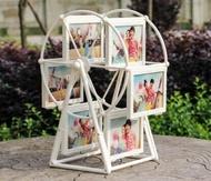 相框 摩天輪相框擺臺5寸旋轉風車相架組合兒童婚紗相片框創意-【快速出貨】