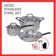 【New Arrival】IGOZO Stainless Steel Elite Cookware Set
