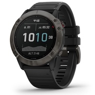 Garmin Fenix 6X Sapphire SmartWatch - [carbon gray DLC with black band]
