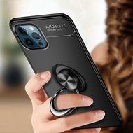 iPhone 12/12 Mini/12 Pro/12 Pro Max Soft TPU Magnetic Ring Slim Case Cover