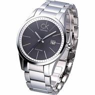 CK手錶 SWISS MADE 簡約風鋼帶腕錶-黑(K2246107) 【保固二年】