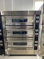 3 deck gas commercial oven with 6 trays