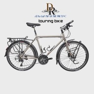 3--10s Reynolds Frame-Fork Touring Bike Cycling DEORE Classic Steels T610 Travel DARKROCK