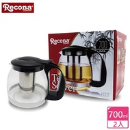 【日本Recona】日式玻璃花茶壺/泡茶壺 700ml(2入組)