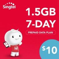 Singtel Prepaid E-Top Up $13 (7 Days )