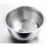 日本製 MARUEFU藤井器物-304不鏽鋼 3way 料理瀝水盆