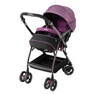 *babygo*愛普力卡Aprica Optia Premium 嬰兒手推車-巴洛克紫