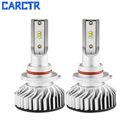 Cartr 2 Built-in Fan Smart Temperature Control 38w 8000 Lm Car Headlights Led Bulb H 4 Zes Chip H 11 H 3 H 7