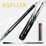 Jflowers  Billiard Carbon Fiber Pool Cue Stick Real Inlay Carbon Energy Technology Cue Kit with Extension with Box