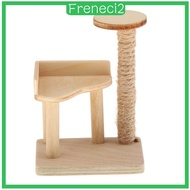 [FRENECI2] 1/12 Wood Handmade Dollhouse Mini Cat Tree Scratching Post Miniatures Furniture Model Decor for Doll House DIY Toys