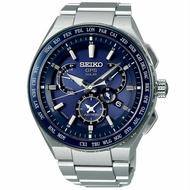 Seiko 精工錶 Astron 8X53-0AV0B(SBXB155J)時尚鈦兩地時間太陽能GPS校時腕錶/46mm