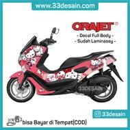 Aksesoris Stiker Motor - Sticker Decal Full Body Motor Nmax - Hello Kitty - 33Desain