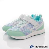 日本月星Moonstar機能童鞋閃電競速衝刺系列寬楦簡約時尚運動鞋款10188綠(中大童段)SUPER SALE樂天購物節