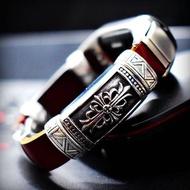 【不掉色】適用小米手環3/4NFC款腕帶個性復古浮雕錶帶手環2/4民族風復古錶帶潮不銹鋼配件手工定制款
