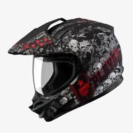 SOL 全罩 安全帽 SS1 SS-1 PG 骷髏 消光黑紅 三種帽型 複合式 越野帽 內襯可拆 可變換帽型《比帽王》
