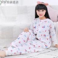 ﹊¤✜寶寶睡袋夏季薄款透氣紗布分腿嬰兒童防踢被空調房夏天大人中大童