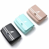 【KANGOL】小方包 三色 小LOGO 側背 尼龍 可調式 扣式 小包(60253001-)