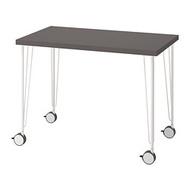 KRILLE/LINNMON 書桌/工作桌, 深灰色/白色