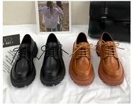 OhBlablaShoes รองเท้าคัชชู/เชือก หนัง สีน้ำตาล , สีดำ