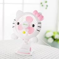 kitty凱蒂貓USB迷你電風扇 學生靜音台夾式兒童卡通hello kitty小風扇