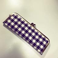 Midori 千鳥格紋 口金 筆袋