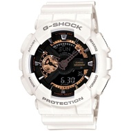 【CASIO 卡西歐】G-SHOCK 復古重機雙顯手錶(GA-110RG-7A)
