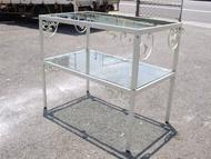 大台南冠均二手貨--4尺 服飾精品店 緞鐵花漾 玻璃展示櫃 中島櫃 陳列櫃 擺飾櫃 精品櫃 置物櫃 *模特兒/穿衣鏡