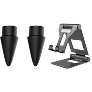2 Pcs Replacement Tip for Apple Pencil Nibs Black & 1 Pcs Adjustable Tablet Stand Universal Tablet Holder