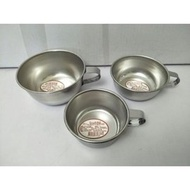 304學生湯碗 兒童餐具 耳碗 燉鍋 蒸鍋 不鏽鋼碗 湯杯 耳杯 牛奶杯 304不銹鋼湯碗 附耳/無耳 台灣製造 一入(23元)