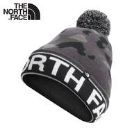 【The North Face 保暖針織毛帽《印花灰黑》】4SIE/保暖帽/雪帽/防寒/登山