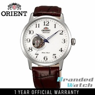 Orient FDB08005W Man Esteem Automatic Open Heart Semi Skeleton with Leather Strap Watch DB08005W