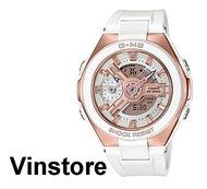 Casio Baby-G G-MS White Strap Rose Pink Case Women Sports Watch MSG-400G-7ADR MSG-400G-7A MSG-400G-7 MSG400G-7A MSG400G-7