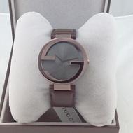 GUCCI雙G YA133309女錶奢華經典深咖啡37mm GUCCI原廠公司貨